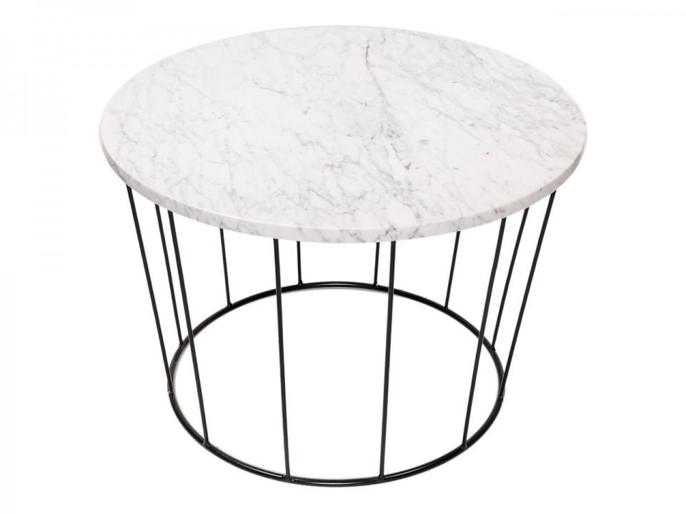 Okrągły stolik Bianco Carrara