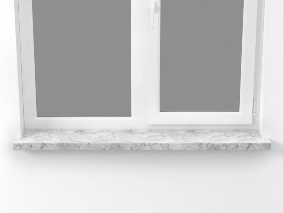 Parapet wewnętrzny marmurowy Carrara 100x25cm.