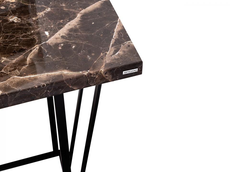 Przyścienny mebel w stylu loftowym Emperador Dark