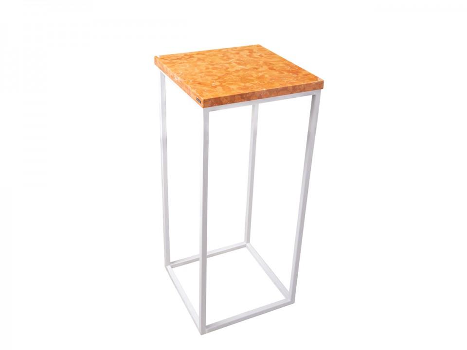 Wysoki stolik z blatem marmurowym Orange Tower