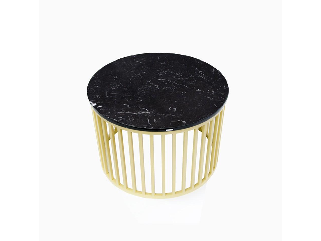 Elegancki Stolik Kawowy Złoto I Marmur W Jednym