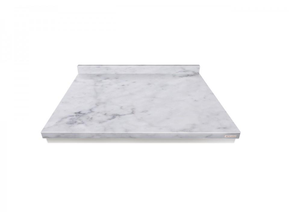 Kamienna stolnica w kolorze Bianco Carrara do wyrabiania ciasta. Wymiar 50x40cm