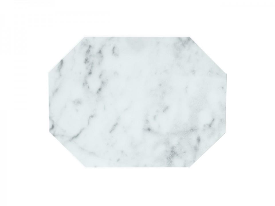 Biała marmurowa włoska podstawka dekoracyjna.