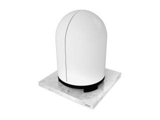 Podstawa głośnika koumny wykonana z białego marmuru Bianco Carrara 30x30 cm.