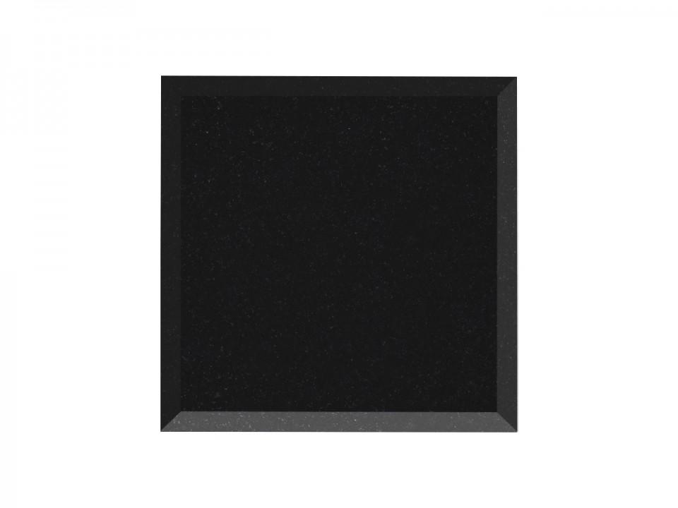 Kamienna podstawka pod głośnik koloru czarnego+chromoniklowe kolce.