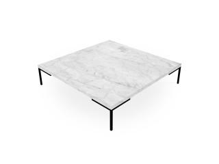 Stolik kawowy z blatem marmurowym. Stolik salonowy Carrara 100 x100x33 cm.