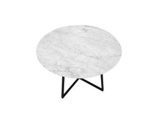 Stół do jadalni w stylu nowoczesnym z blatem marmurowym Carrara.