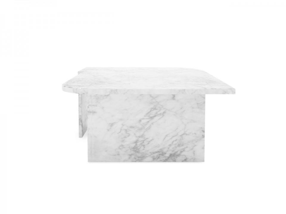 Marmurowy stolik kawowy Bianco Carrara, nowoczesny stolik do salonu
